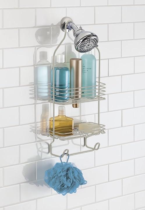 Amazon.com: mDesign Bathroom Shower Caddy, Storage for Shampoo ...