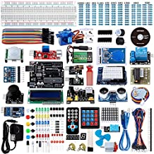 Smraza Complete Ultimate UNO Kit for Arduino, Project Starter Kit with UNO R3 Controller Board, Motors, Sensors, Jumper Wires and LCD Module, Power Supply (200pcs Components)