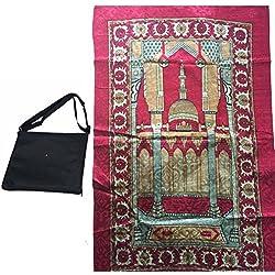 Travel Prayer Rug Mat Muslim Kids Prayer Mat Travel Prayer Rug 68cm*108cm(blue)