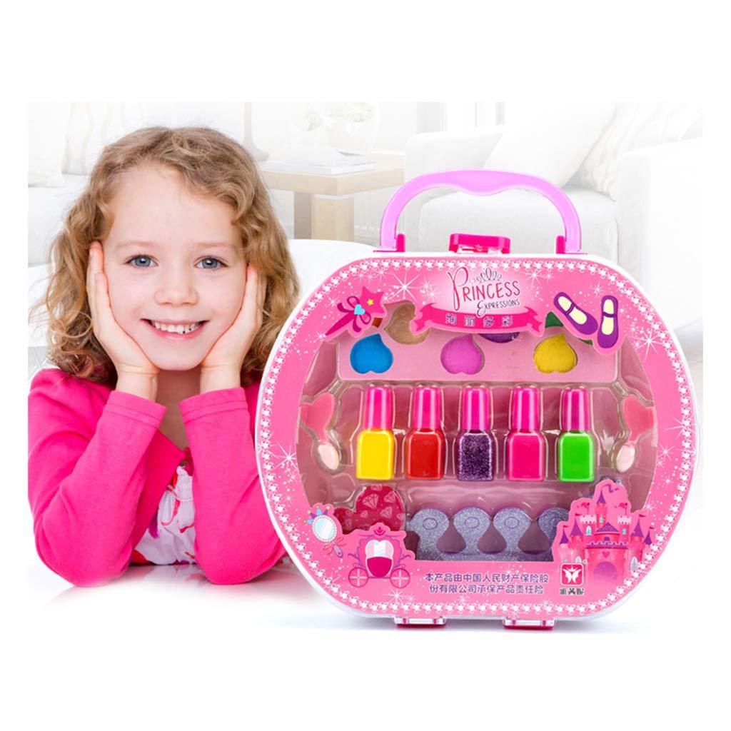 Unbekannt Homyl Kinder Schminksachen Schminkset Prinzessin M/ädchen Schminkkoffer Kosmetik-Set M/ädchen Rollenspiel Spielzeug Pretend Play Toy A