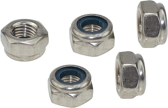 """3//8/""""-16 UNC Serrated Flange Nuts Hex Lock Nuts 304 A2 Stainless Steel Qty 2"""