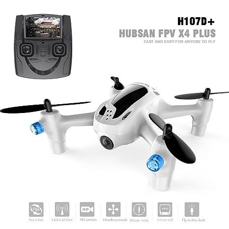Hubsan H107D+ X4 FPV Quadcopter 5.8Ghz cámara 1080P (H107D+): ...