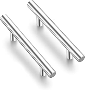 Ravinte 4 Pack 5 inch Cabinet Pulls Brushed Nickel Stainless Steel Kitchen Cupboard Handles Cabinet Handles, 3.75 inch Hole Center