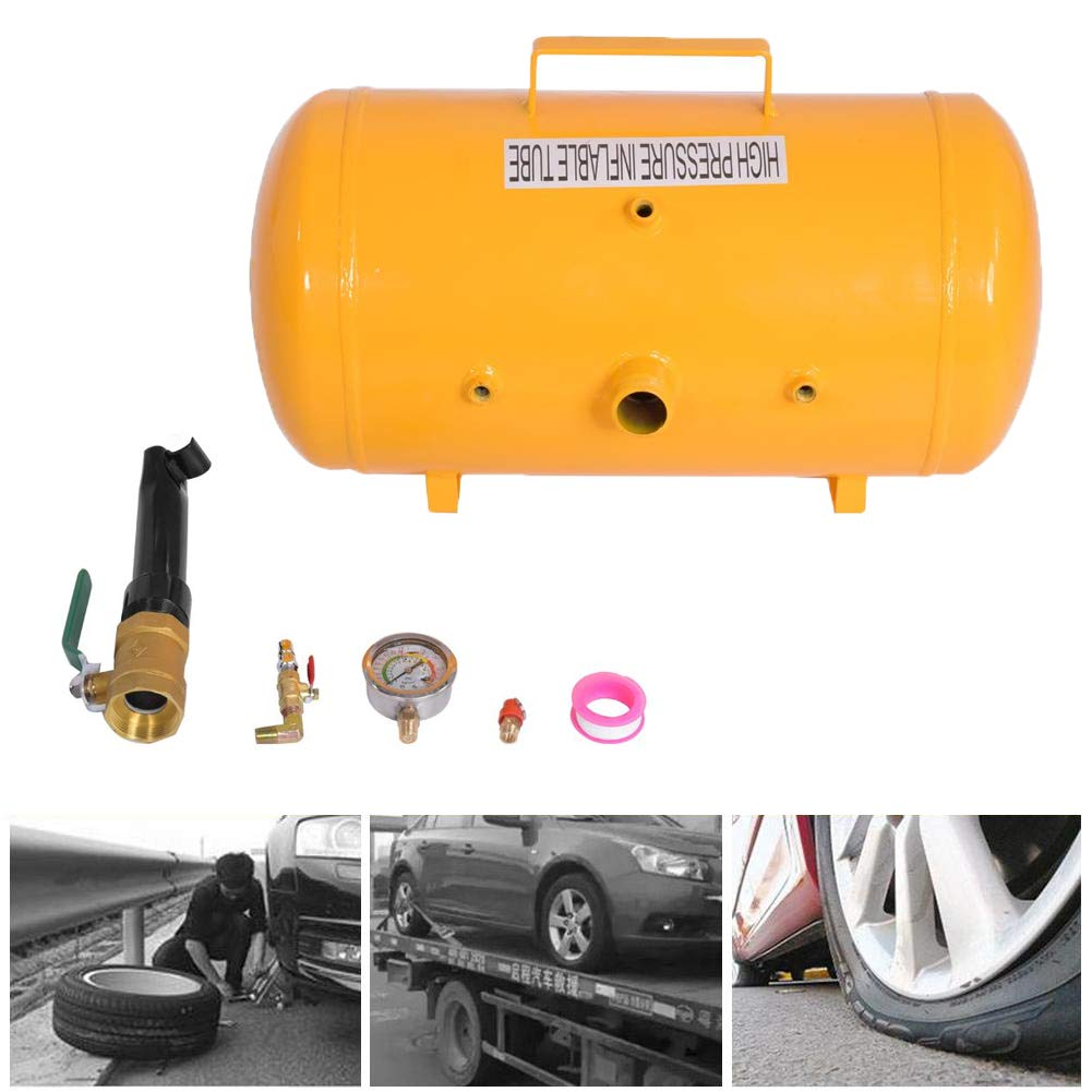 Cocoarm Reifen Reifenf/üller Booster Reifenschockf/üller Reifenbooster Druckluft Reifenbef/üllerAirbooster Luftkanone Bef/üllhilfe f/ür LKW Auto PKW B//40L