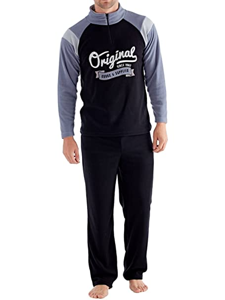 Harvey James - Pijama - para Hombre Black-Grey Medium
