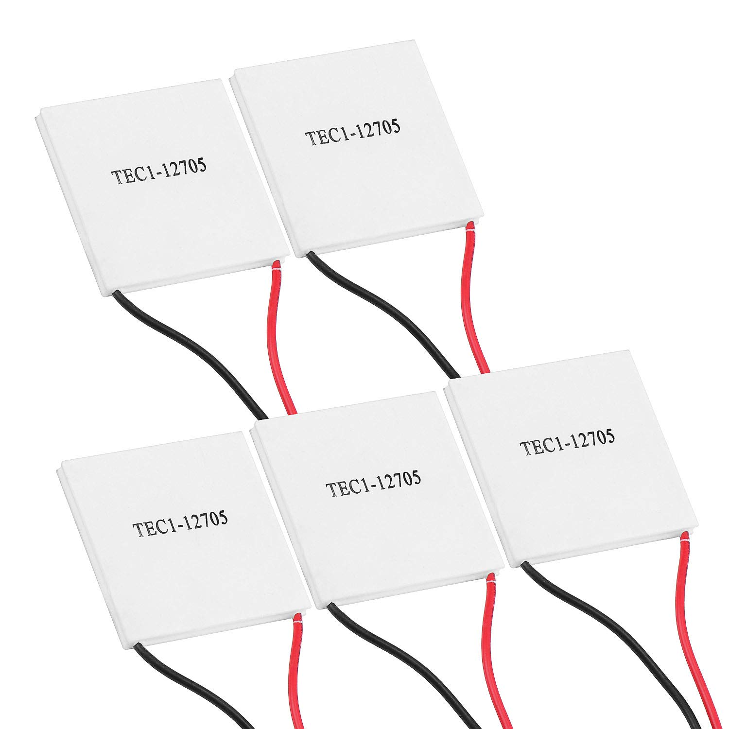 ESUMIC 5PCS TEC1-12705 Heatsink Thermoelectric Cooler Cooling Peltier Plate Module 12V 45W