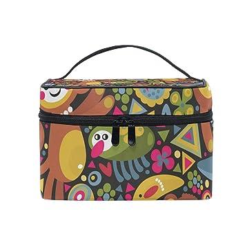 c1fb16fec733 Amazon.com : Cosmetic Case Bag Monkey Banana Pineapple Portable ...
