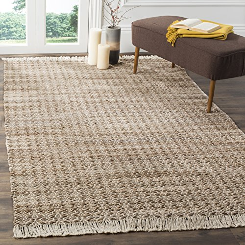 Safavieh Boston Collection BOS708A Beige and Ivory Cotton Flatweave Area Rug (5' x 8') Boston Collection