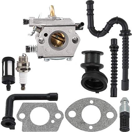 Amazon com: MS240 Carburetor with Gasket Fuel Line Oil Line