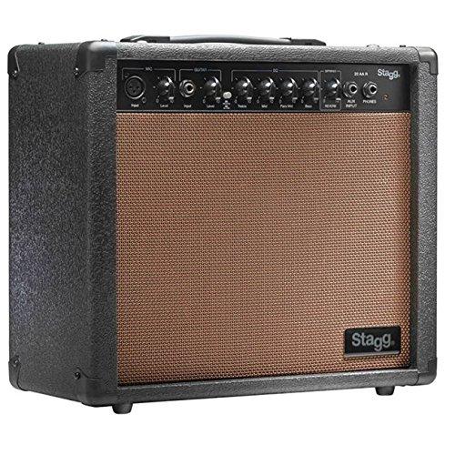 Stagg 25015612 Combo Akustik-Gitarrenverstärker mit Federhall