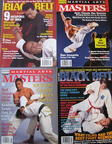 Mixed Lot Of 4 Martial Arts Magazines Wally Jay Jean Claude Van Damme Rickson Gracie Covers