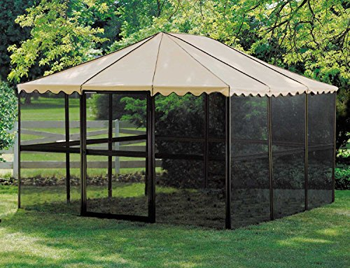 Casita 12-Panel Square Screenhouse Model 21165 Brown with Almond Roof Canopy by Casita (Image #3)