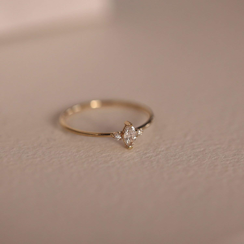 9ee1bb1287686 Amazon.com: Marquise Diamond Engagement Ring, Marquise Diamond ...