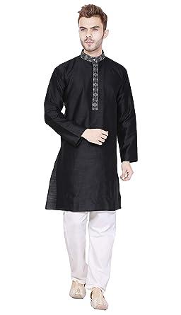 7f4dcdba1c Kurta Pajama for Men Long Sleeve Button Down Pyjama Set Indian ...