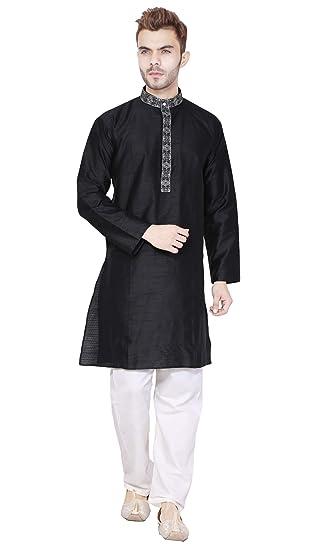 181014a40ac3 Kurta Pajama for Men Long Sleeve Button Down Pyjama Set Indian ...