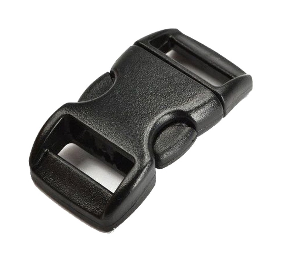 "SciencePurchase 20 PCS 3/8"" (10mm) Black Contoured Side Release Plastic Buckles"