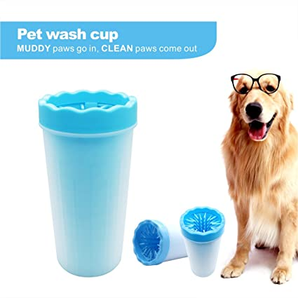 Amazon Com X Go Portable Pet Paw Cleaner Cup Pet Foot Washer Brush