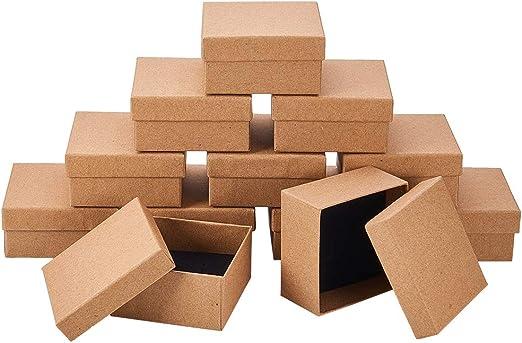 NBEADS Caja de Papel, 12 Paquetes de 7x7x3.5 cm Caja ...