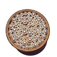 EmmaGreen No Hole Pearls for Jewelry Making or Vase Filler Mix 2mm-8mm Pearls Without Hole Approx 150pcs