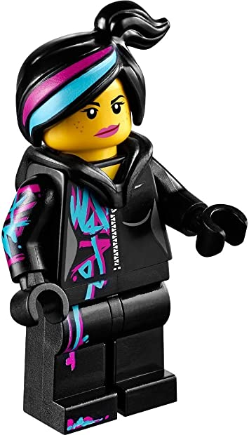 Lego The Lego Movie Wyldstyle With Hoodie Down Minifigure Amazon Co Uk Toys Games