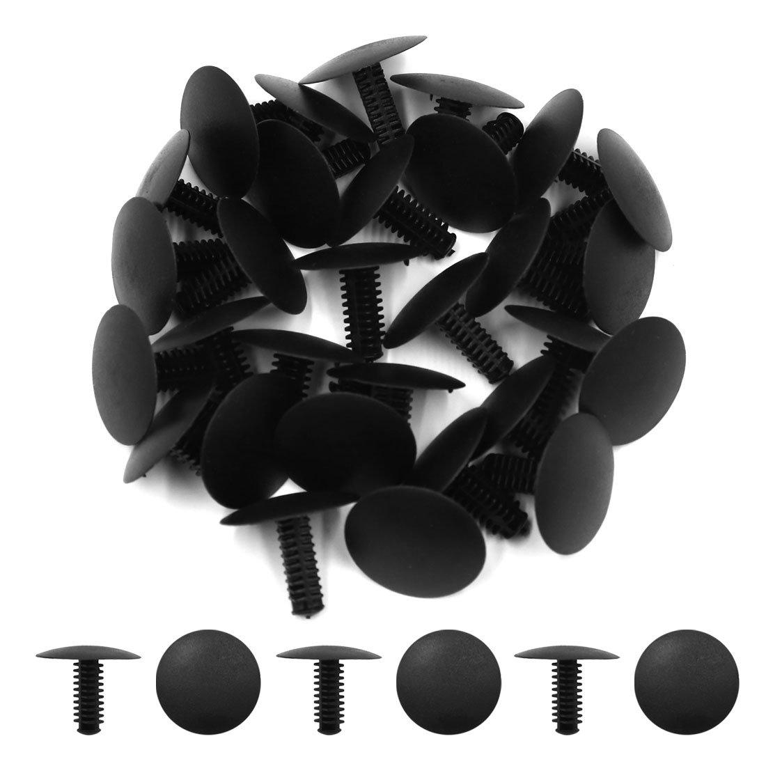 sourcingmap/® 30 Stk schwarz Auto Kunststoff Push Niete Halter Sto/ßf/änger Clips f/ür 5 mm x 4 mm Durchmesser Bohrung DE de