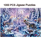 Bitopbi 1000 PCS Jigsaw Puzzles Intellectual Game For Adults and Kids Reduced Pressure Toy (C4 Castle and Wolves)