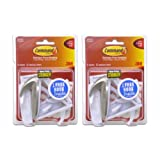 Command Medium Hooks Bonus Pack, 14-Hooks (12-White, 2-Brushed Nickel)