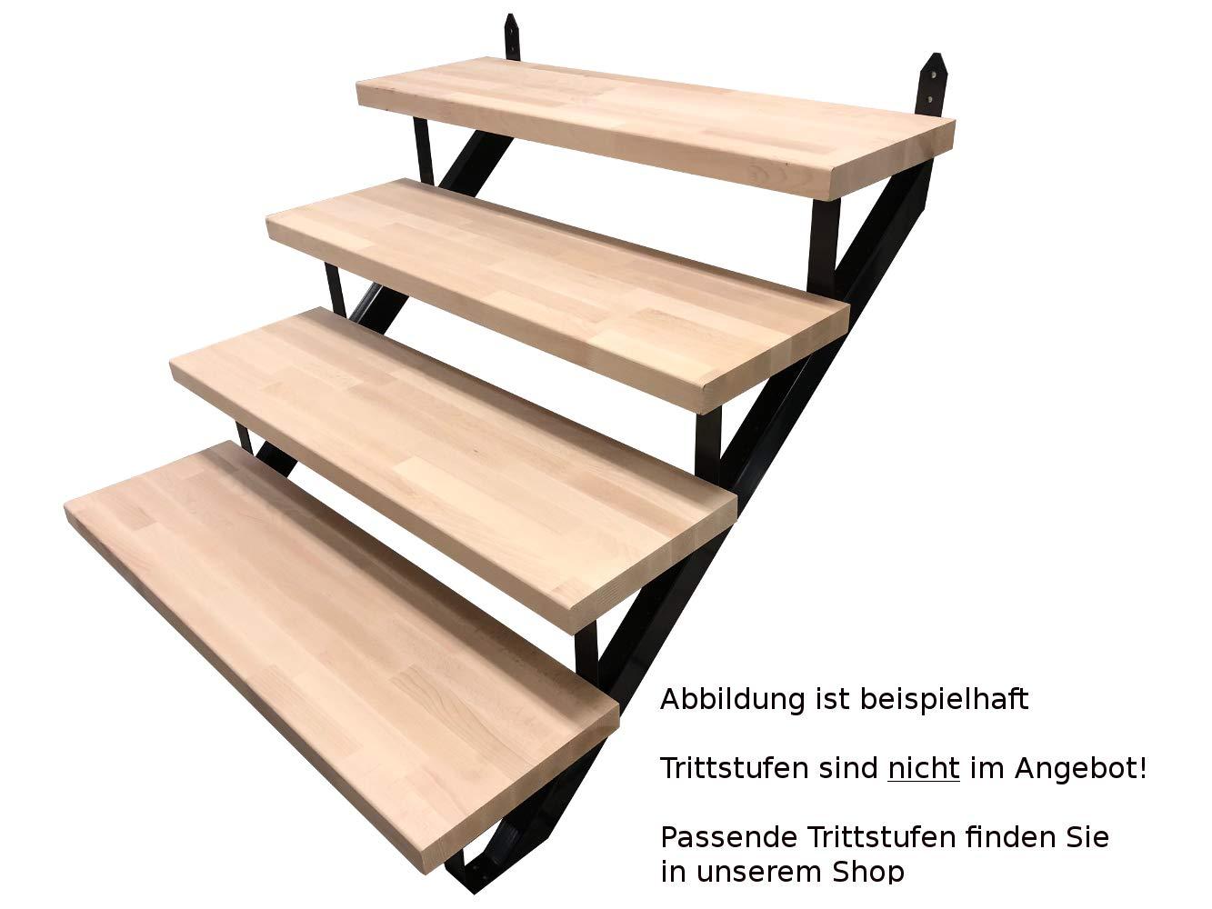 5 Stufen Treppenrahmen Stahl-Treppenwange Treppenholm Geschossh/öhe 91cm Schwarz//Ideal f/ür den Einsatz im Innen und Au/ßenbereich