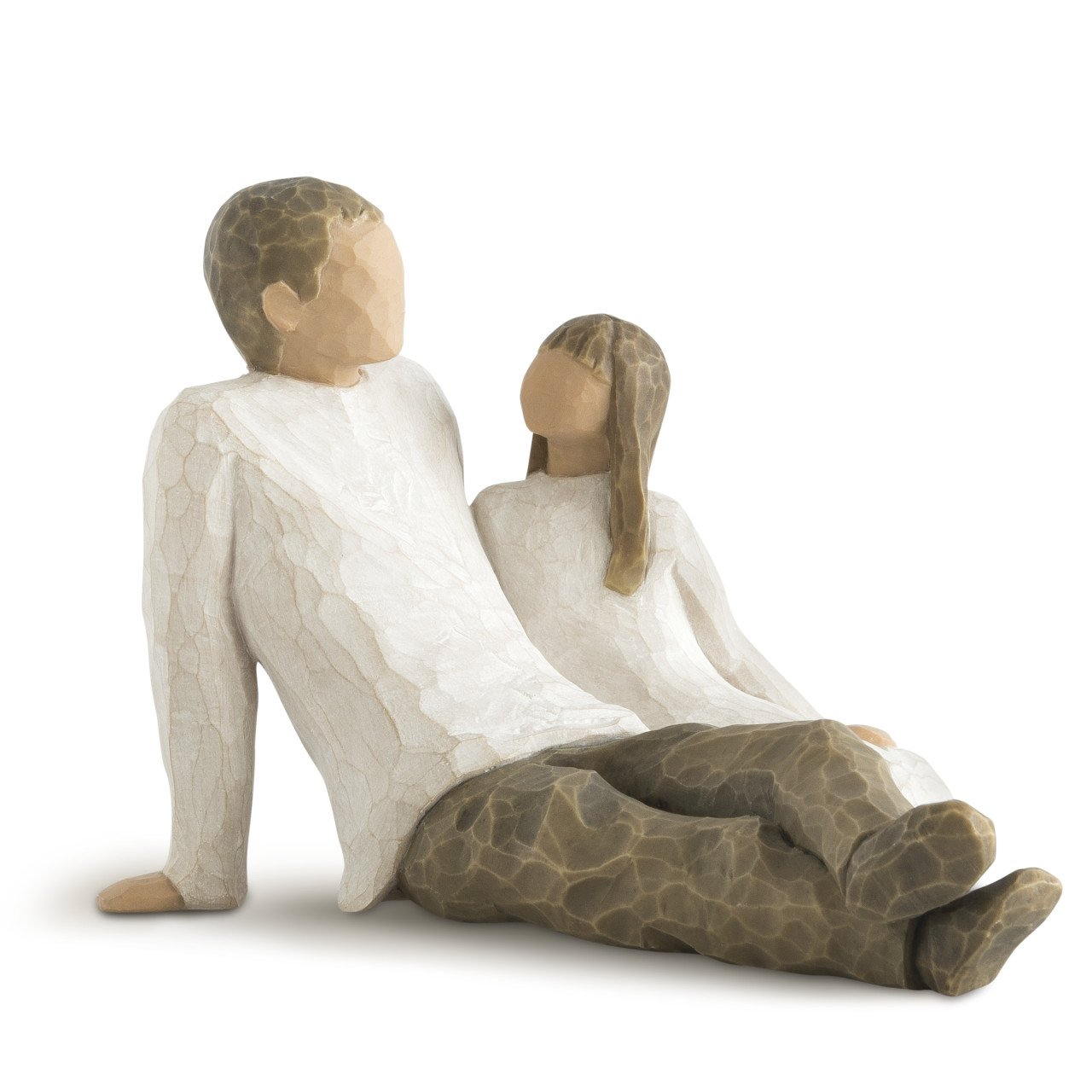Willow Tree Father and Daughter, sculpted hand-painted figure by Willow Tree