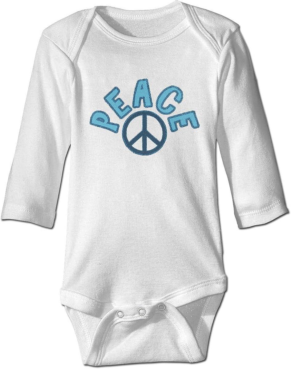 Marsherun Baby Boys Girls World Peace Sign Long-Sleeve Climbing Bodysuits Playsuits