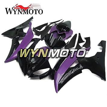 wynmoto ABS Inyección morado negro completa motocicleta embellecedores para Yamaha YZF R6 08 - 16 cascos: Amazon.es: Coche y moto