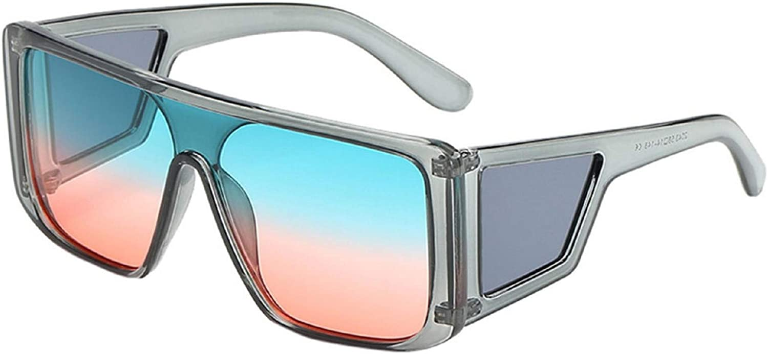 Shield Fit Over Glasses Large Sunglasses Oversized Square Goggles Shades for Men /& Women