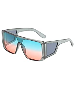 Shield Fit Over Glasses Large Sunglasses Oversized Square Goggles Shades for Men & Women