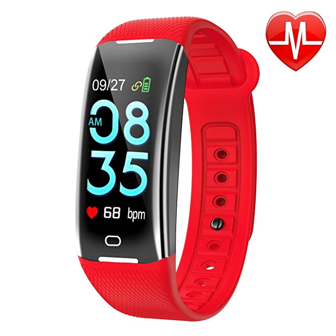 KARSEEN Fitness Tracker Smart Watch H3 Color Screen for Blood Pressure and Heart Rate Monitor Phone Enabled IP67 Waterproof Pedometer Sports Watch for ...