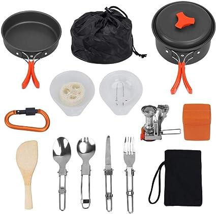 VORCOOL 1 juego de utensilios de cocina para acampar ...