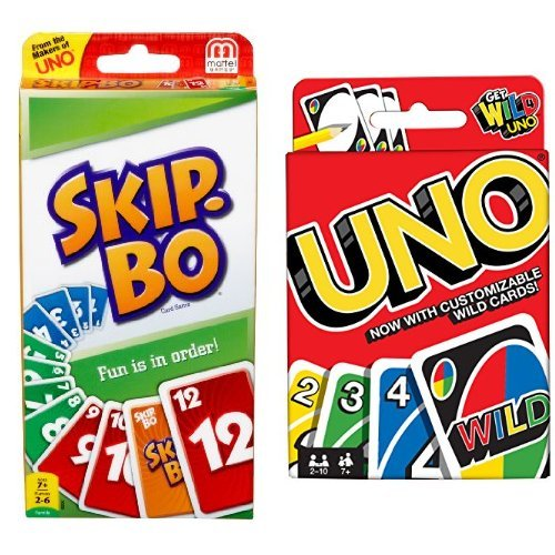 SKIP BO Card Game and Uno Card Game (Uno Stack)