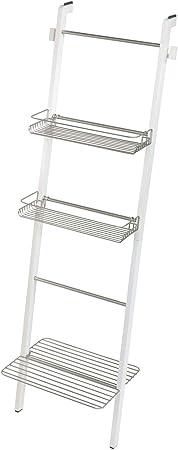 InterDesign Toallero Escalera para Almacenamiento de Baño, Bambú, Blanco, 30.89x49.1x155.97 cm: Amazon.es: Hogar