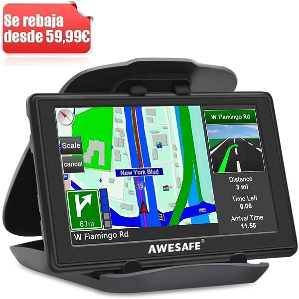 AWESAFE GPS para Coches con 5 Pulgadas Pantalla LCD, Navegador GPS ...
