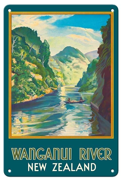 Wanganui River New Zealand Póster De Pared Metal Retro Placa ...