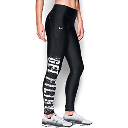 c9a0a0ea7a3b4 Amazon.com : Women's Under Armour Fly By Legging - Get Filthy, Black ...