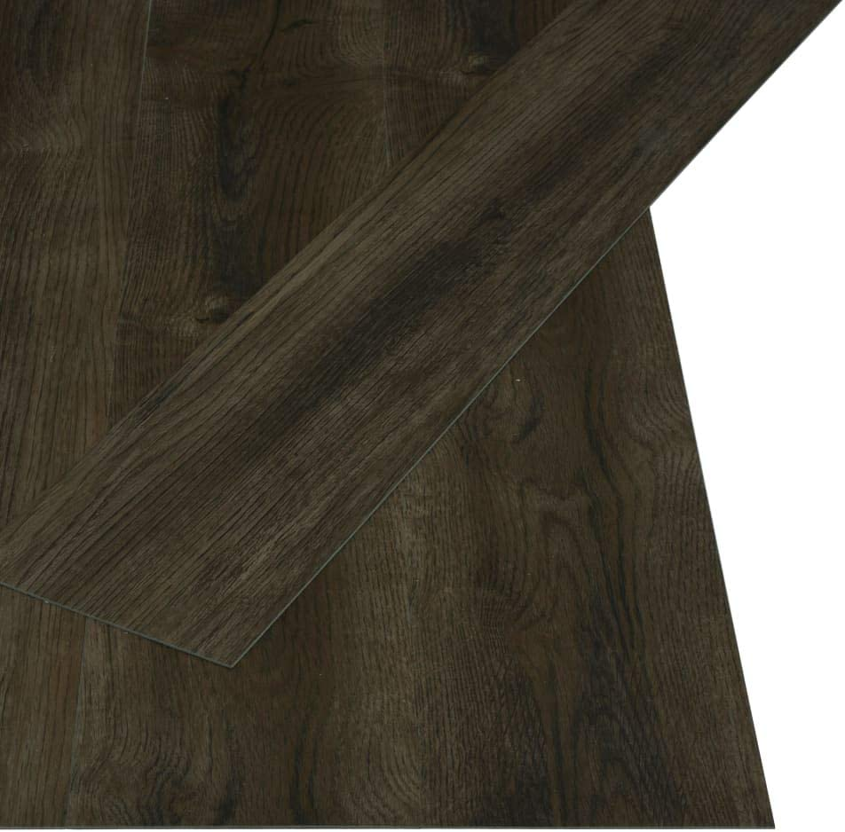 vidaXL 32x Laminat Dielen Fu/ßboden Vinylboden Vinyl Boden Planken Bodenbelag Designboden PVC Selbstklebend 4,46 m/² 3mm Dunkelbraun Rutschfest Wasserfest