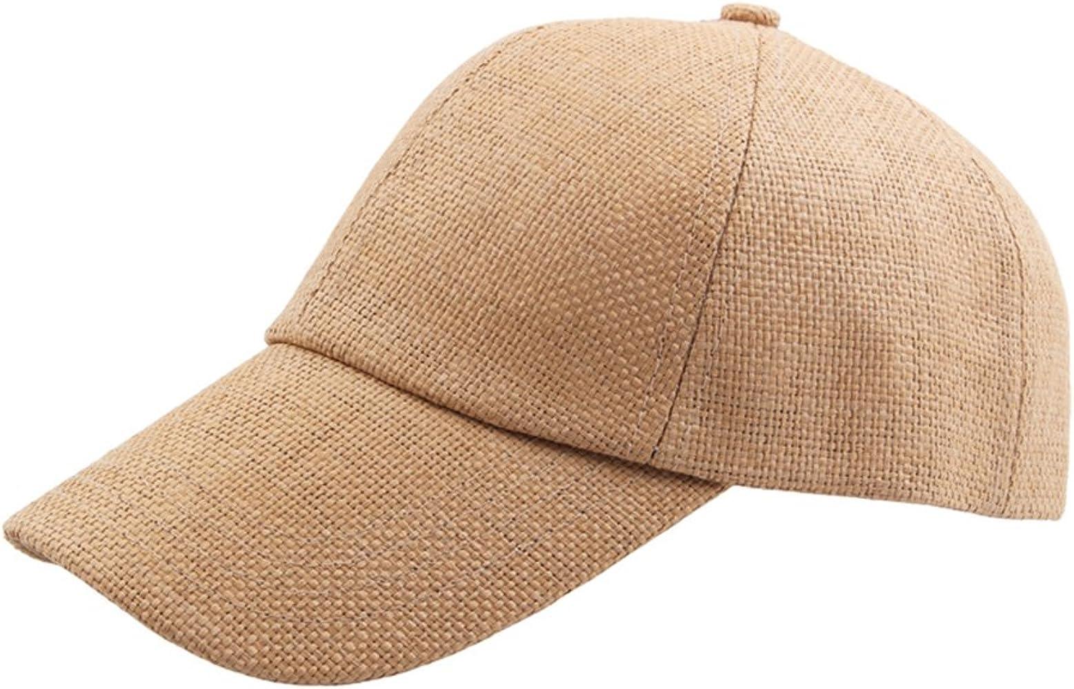 Gysad Diseño Simple Sombrero de Paja Unisex Color sólido Gorras ...