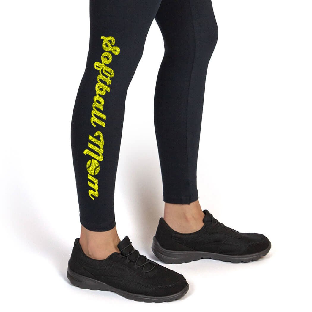 Softball Mom Leggings Multiple Colors Softball Leggings by ChalkTalk SPORTS Youth To Adult Sizes sb-02489