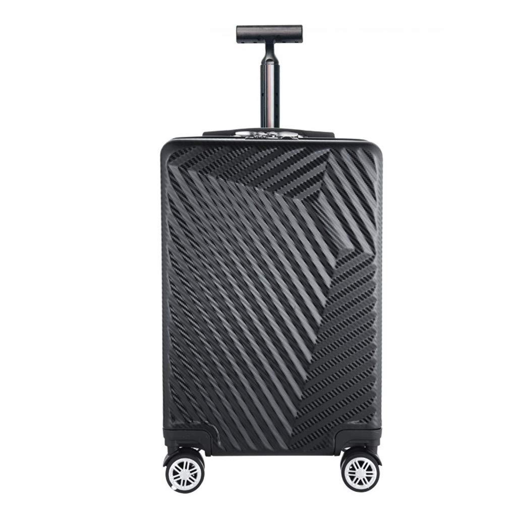 スモールトロリーケース、スタイリッシュな個性360°ミュートキャスタースーツケース。サイズ(35 * 20 * 48CM) B07SFCZHS2 Black