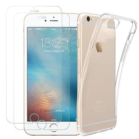 Kany [2 Stück] iPhone 6s 6 Schutzfolie Panzerglas, 1 Hülle Case, Ultra-Klar Schutzfolie iPhone 6s 6 Displayschutz und Transpa