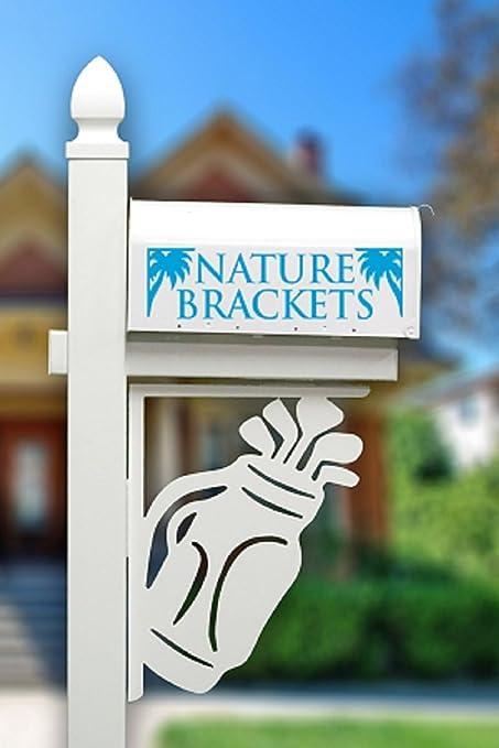 Nature Brackets Paintable PVC Mailbox Decorative Bracket (Golf)