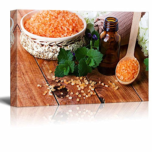 Zen Spa Salts with Aromatic Therapeutic Oils Wall Decor ation