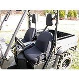 Rugged Ridge 63210.01 Black Neoprene Seat Cover with Headrest Cover for Yamaha Rhino - Pair