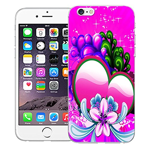 "Mobile Case Mate iPhone 6S 4.7"" Silicone Coque couverture case cover Pare-chocs + STYLET - Pink Sweetheart pattern (SILICON)"