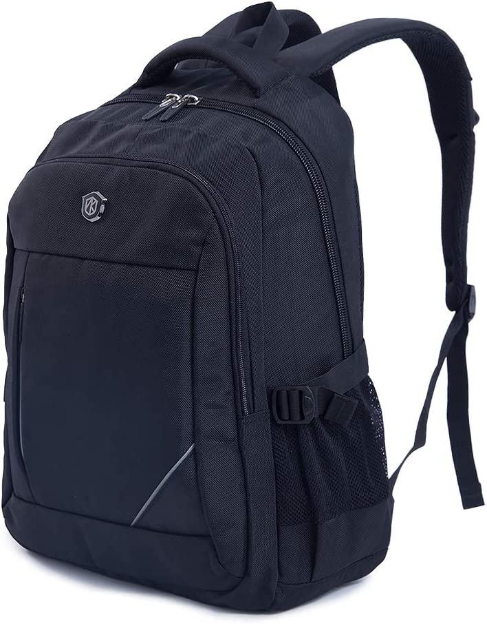 Travel Laptop Backpack, Business Slim Durable Laptops Backpack, Water Resistant College School Computer Bag for Women Men Fits 15.6 Inch Laptop and Notebook – Black